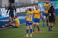 Rugby Union - 2019 / 2020 Gallagher Premiership - Round 22 - Saracens vs Bath - Allianz Park<br /> <br /> Bath Rugby's Ben Spencer and Miles Reid dejected at the final whistle after the 17-17 draw.<br /> <br /> COLORSPORT/ASHLEY WESTERN
