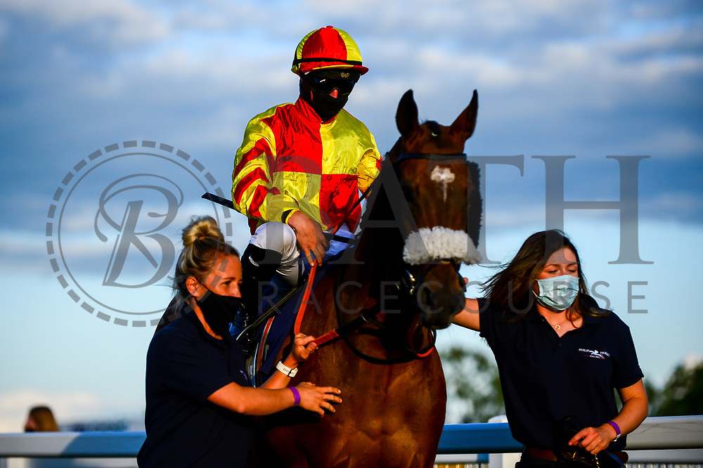New Millennium ridden by Tom Marquand and trained by Philip Hobbs - Mandatory by-line: Dougie Allward/JMP - 10/07/2020 - HORSE RACING - Bath Racecourse - Bath, England - Bath Races