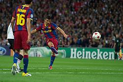 28-05-2011 VOETBAL: CHAMPIONS LEAGUE FINAL FC BARCELONA - MANCHESTER UNITED: LONDON<br /> David Villa scores the third goal against Manchester United <br /> ***NETHERLANDS ONLY***<br /> ©2011- FotoHoogendoorn.nl/nph/Chris Brunskill