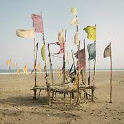 A Makrani shrine (called a Ziarat) on the Arabian sea coast of Baluchistan. Mainly a shrine used by fishermen for good fortune.