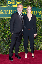 © Licensed to London News Pictures. 03/12/2017. London, UK. SAM MENDES and wife ALISON BALSOM attends the London Evening Standard Theatre Awards 2017 held at the Theatre Royal, Dury Lane. Photo credit: Ray Tang/LNP