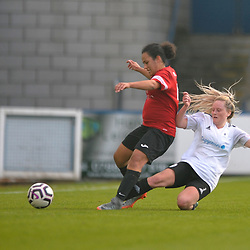 TELFORD COPYRIGHT MIKE SHERIDAN Abbi Watkins  during the West Midlands Regional League North fixture between AFC Telford United and Sandwell at New Bucks Head on Sunday, October 11, 2020.<br /> <br /> Picture credit: Mike Sheridan/Ultrapress<br /> <br /> MS202021-032