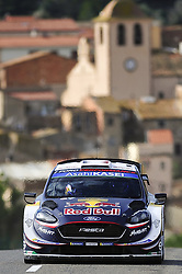 October 28, 2018 - Barcelona, Catalonia, Spain - The French driver, Sebastien Ogier, and his co-driver, Julien Ingrassia of M-Sport WRC, during the last day of WRC Rally Racc Catalunya Costa Daurada, on October 28, 2018 in Salou, Spain. (Credit Image: © Joan Cros/NurPhoto via ZUMA Press)