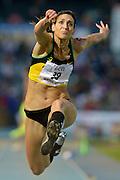 © Filippo Alfero<br /> XIII Meeting Internazionale di Atletica Leggera Primo Nebiolo<br /> Torino, 08/06/2012<br /> sport atletica<br /> Nella foto: Simona La Mantia - ITA, vincitrice salto triplo donne