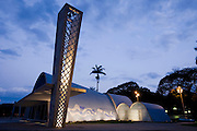 Belo Horizonte_MG, Brasil...Igreja Sao Francisco de Assis, projeto arquitetonico de Oscar Niemeyer na  Pampulha...Sao Francisco of Assis church, Oscar Niemeyer project in Pampulha...Fotos: BRUNO MAGALHAES / NITRO