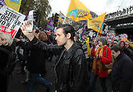 Public sector workers strike and march through London 30/11/2011