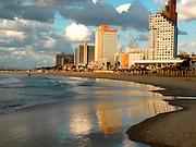 Israel, Tel Aviv coast line and cityscape October 2005