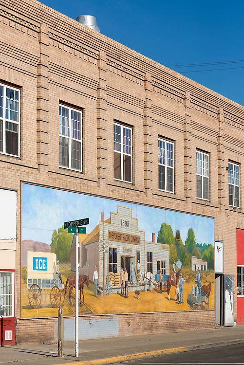 Toppenish Trading Company mural on a building in Toppenish, a town in Central Washington known for it's murals.