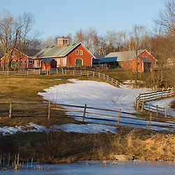 Acorn Hill Farm in Lyme, New Hampshire. Spring.