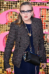© Licensed to London News Pictures. 29/06/2016. CARRIE FISHER attends the ABSOLUTELY FABULOUS world film premiere. London, UK. Photo credit: Ray Tang/LNP