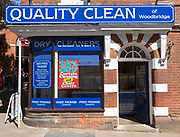 Quality Clean dry cleaners shop, Woodbridge, Suffolk, England, UK