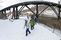 New Year's Eve kayak at Franklin Trestle Park January 1, 2013.