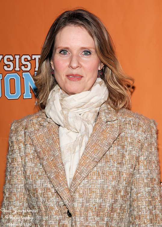 """NEW YORK, NY - DECEMBER 14:  Cynthia Nixon attends the """"Lysistrata Jones"""" Broadway opening night arrivals and curtain call at the Walter Kerr Theatre on December 14, 2011 in New York City.  (Photo by Paul Zimmerman/WireImage)"""
