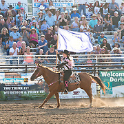 Darby Rodeo Association Princess Janelle Johnson at the Darby Rodeo Association Elite Bull Connection event July 5th 2019.  Photo by Josh Homer/Burning Ember Photography.  Photo credit must be given on all uses.