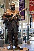 Memphis Tennessee TN, USA, Statue of B.B. King playing guitar at the welcome centre