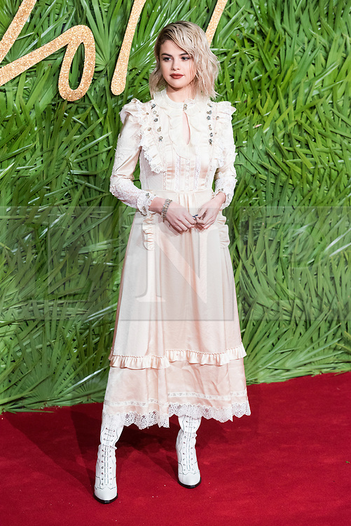 © Licensed to London News Pictures. 04/12/2017. London, UK. SELENA GOMEZ arrives for The Fashion Awards 2017 held at the Royal Albert Hall. Photo credit: Ray Tang/LNP