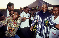 1994 - South Africa - NELSON MANDELA greets people during a campaign stop leading up to the 1994 elections. .(Credit Image: © Greg Marinovich/ZUMA Wire/ZUMAPRESS.com)