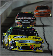 September 2, 2012 - Hampton:  Carl Edwards leads a pack of cars into turn one at lap during the AdvoCare 500 at the  Atlanta Motor Speedway in Hampton on  Sunday, September 2, 2012. Tony Stewart won the pole with 186.122 miles er hour and will start in first position. ©2008Johnny Crawford