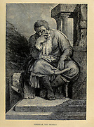 Jeremiah the Prophet from ' The Doré family Bible ' containing the Old and New Testaments, The Apocrypha Embellished with Fine Full-Page Engravings, Illustrations and the Dore Bible Gallery. Published in Philadelphia by William T. Amies in 1883