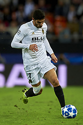 November 7, 2018 - Valencia, Spain - Gonzalo Guedes of Valenciacontrols the ball during the Group H match of the UEFA Champions League between Valencia and Young Boys at Mestalla Stadium, Valencia on November 07 of 2018. (Credit Image: © Jose Breton/NurPhoto via ZUMA Press)