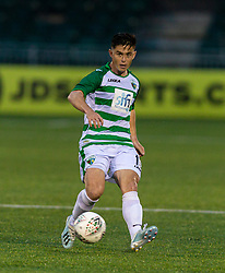 OSWESTRY, ENGLAND - Thursday, August 27, 2020: The New Saints' Danny Redmond during the UEFA Europa League First Qualifying Round match between The New Saints FC and MŠK Žilina at Park Hall. (Pic by Propaganda)