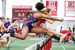 womens 60 meters hurdle, heat 3, Holy Cross<br /> BU John Terrier Classic <br /> Indoor Track & Field Meet