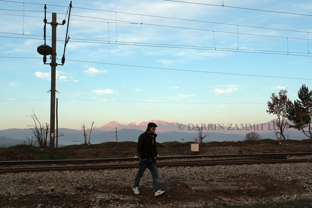 Migrants and refugees travel from Athens to Macedonia<br /> Camp in Idomeni <br /> Photo: Darrin Zammit Lupi