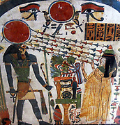 Stele of Lady Taperet.Third Intermediate Period, 22nd Dynasty, 10th or 9th century BC Painted wood Egyptian Antiquities