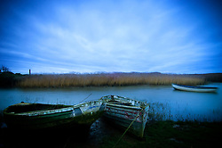 Boats at Brancaster Staithe, North Norfolk Coast, England, UK, Europe.