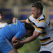 BERKELEY, CA - NOVEMBER 08:  Zack Bonte #2 of UCLA gets tackled by Jesse Milne #12 of California during the PAC Rugby 7's Championship between UCLA and California at Witter Rugby Field at the University of California on November 8, 2015 in Berkeley, California. California won the match by a score of 17-5. (Photo by Alex Menendez/Getty Images) *** Local Caption *** Zack Bonte; Jesse Milne