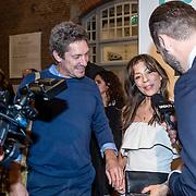 NLD/Amsterdam/20161005 - Filmpremiere Tonio, Nadja Hupscher en partner Sander Roeleveld