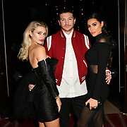 Molly Abbott, Tom Kilbey and Laura Zilli attends a dinner to raise funds for KIDS, a charity that supports disabled children, young people and their families at Riverbank Park Plaza on 24 November 2018, London, UK.