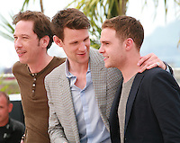 Reda Kateb, Matt Smith, Iain De Caestecker, at the photo call for the film Lost River at the 67th Cannes Film Festival, Tuesday 20th May 2014, Cannes, France.