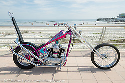 Lynn and Jack Deagazio's custom Harley-Davidson Passion Built Sportster chopper at the Boardwalk Bike Show during Daytona Beach Bike Week, FL. USA. Friday, March 15, 2019. Photography ©2019 Michael Lichter.