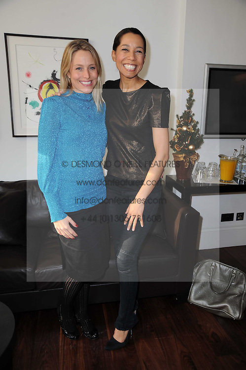 Left to right, SAM MANN and MARGHERITA TAYLOR at a breakfast hosted by Bobbi Brown - the cosmetics company held at Morton's, 28 Berkeley Square, London on 8th December 2009.