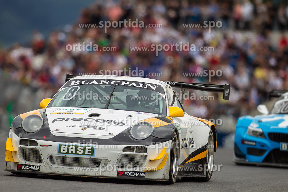 10.08.2013, Red Bull Ring, Spielberg, AUT, ADAC GT Masters, 1. Rennen, im Bild Tonino powered by Herberth Motorsport, (#8, Robert Renauer, GER ind Martin Ragginger, AUT) // during the ADAC GT Masters 1st race day at the Red Bull Ring in Spielberg on August 10th 2013, EXPA Pictures © 2013, PhotoCredit: EXPA/ Mario Kuhnke