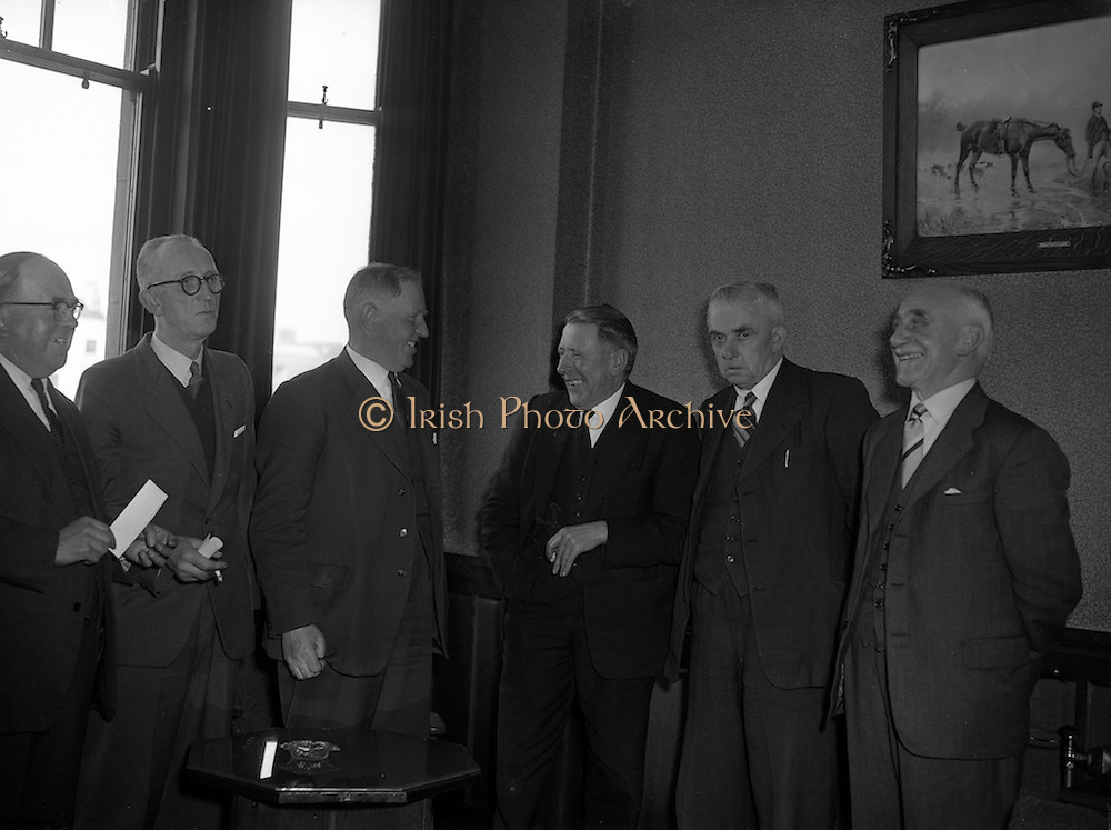 27/03/1957 <br /> 03/27/1957<br /> 27 March 1957<br /> Irish Auctioneers and Estate Agents Annual General Meeting At the Clarence Hotel, Dublin.