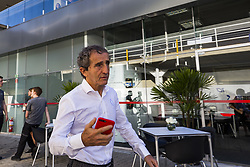 November 12, 2017 - Sao Paulo, Sao Paulo, Brazil - Nov, 2017 - Sao Paulo, Sao Paulo, Brazil - Former rider and technical advisor to the Renault team ALAIN PROST. It happens on Sunday (12) the Brazilian Grand Prix of Formula One, in the autodromo track of Interlagos in Sao Paulo. (Credit Image: © Marcelo Chello via ZUMA Wire)