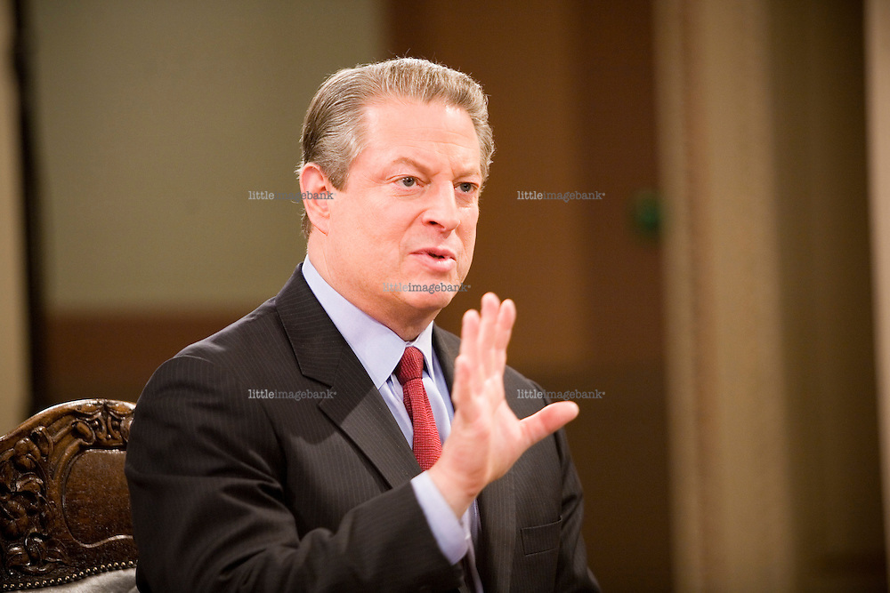 Al Gore during a debate inside Domus Academica in Oslo regarding world climate change. 11.12.2007, Photo: Christopher Olssøn.