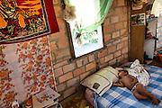Bedroom of a Makushi community house (North Rupununi, Guyana).