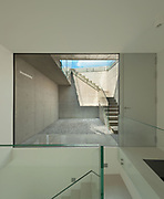 Architecture, new trend design, staircase with large window