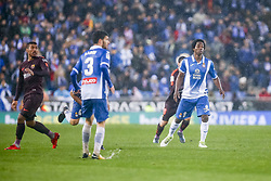 February 4, 2018 - Barcelona, Catalonia, Spain - Carlos Sanchez (r) during the match between RCD Espanyol vs FC Barcelona, for the round 22 of the Liga Santander, played at Cornella -El Prat Stadium on 4th February 2018 in Barcelona, Spain. (Credit Image: © Urbanandsport/NurPhoto via ZUMA Press)