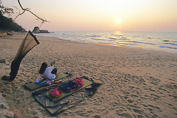 Camper At Livingstonia Beach