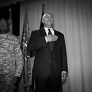 Former U.S. Secretary of State and retired four-star general Colin Powell at a ceremony at Walter Reed Army Medical Center in Washington D.C., USA.<br /> <br /> (Credit Image: © Louie Palu/ZUMA Press)