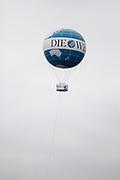 Die Welt hot air balloon in Berlin, Germany, April 05, 2012.
