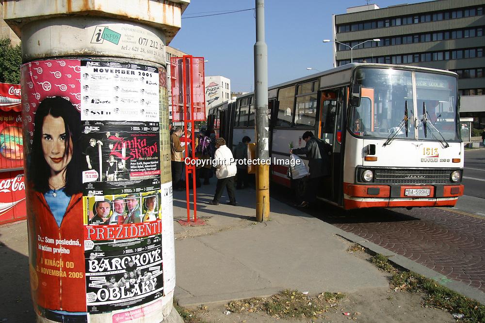Bus stop in Bratislava, Slovakia