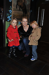 JEMMA KIDD (Countess of Mornington) and her daughter MAE and son DARCY at a party to celebrate the publication of Zita West's book - Your Pregnancy Consultant held at China Tang, Park Lane, London on 6th December 2012.
