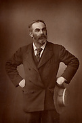 John Burns (1858-1943) English Labour (socialist) politician.  Member of Parliament for Battersea, London, 1892.  The first working-class member of a British Cabinet.  From 'The Cabinet Portrait Gallery' (London, 1890-1894).  Woodburytype after photograph
