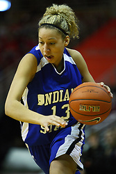 05 February 2011: Deja Mattox during an NCAA Women's basketball game between the Indiana State Sycamores and the Illinois State Redbirds at Redbird Arena in Normal Illinois.