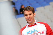 kick off Kids Sports News in de Amsterdfam ArenA<br /> <br /> OP de foto:<br /> <br />  Sipke Jan Bousema.